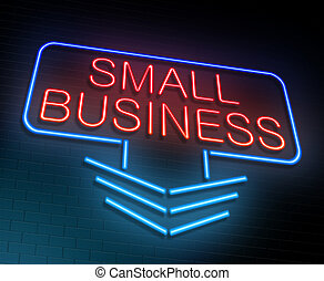 Small business concept - Illustration depicting an...