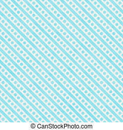 Light Teal and White Small Polka Dots and Stripes Pattern...
