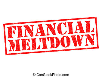FINANCIAL MELTDOWN red Rubber Stamp over a white background