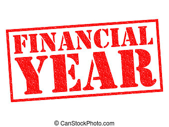 FINANCIAL YEAR red Rubber Stamp over a white background.