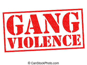 GANG VIOLENCE red Rubber Stamp over a white background.