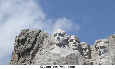 Time lapse close up Mt Rushmore - Time lapse close up of the...