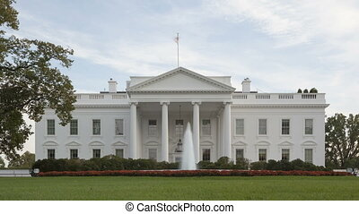 Time lapse zoom The White House - Time lapse zoom out of The...
