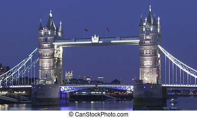 Time lapse Tower Bridge London - Time lapse close up of the...