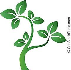 green tree symbol logotype or header milieu environ
