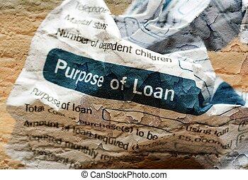 Crinkled loan form