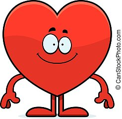 Happy Cartoon Heart - A cartoon illustration of a heart card...