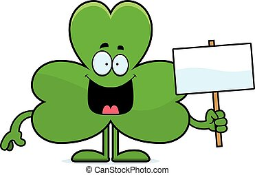 Cartoon Shamrock Sign