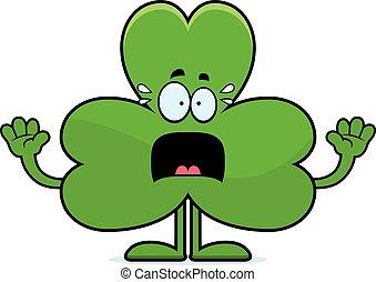 Scared Cartoon Shamrock
