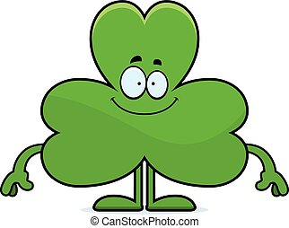 Happy Cartoon Shamrock