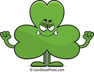 Angry Cartoon Shamrock