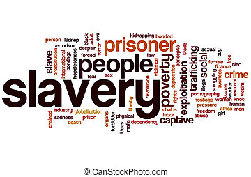 Slavery word cloud concept
