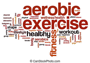 Aerobic exercise word cloud concept
