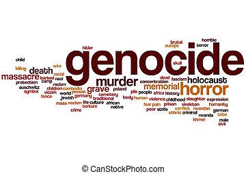 Genocide word cloud concept