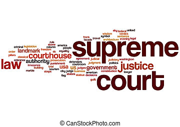 Supreme court word cloud concept