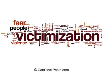 Victimization word cloud concept