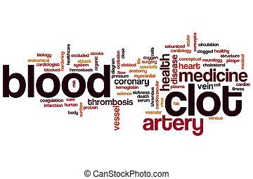 sangue, coágulo, palavra, nuvem,
