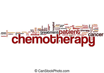 Chemotherapy word cloud concept