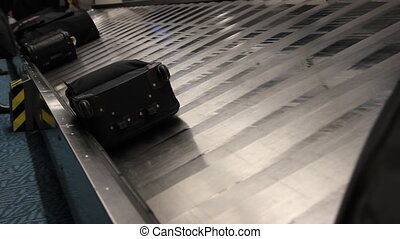 Baggage carousel. - Baggage carousel at the airport.