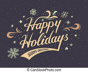 Happy Holidays hand-lettering card - Happy Holidays...