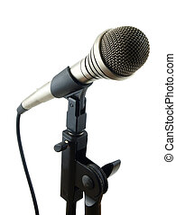 Classic Studio Mic - Classic studio microphone with stand...