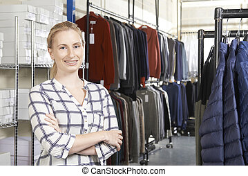 Businesswoman Running On Line Fashion Business