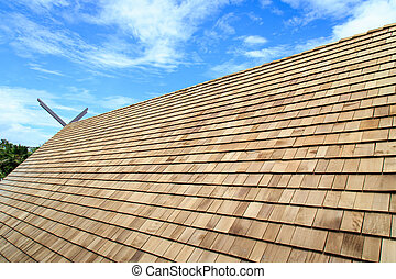 Wooden roof Shingle texture