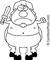 Angry Cartoon Centaur - A cartoon illustration of a centaur...
