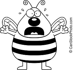 Scared Bee - A cartoon bee with a scared expression