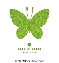 Vector abstract green and white circles butterfly silhouette...