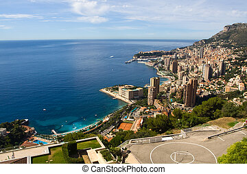 Monaco View from the top - Monaco View from the hill Monte...