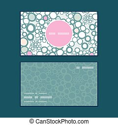 Vector colorful bubbles vertical round frame pattern...