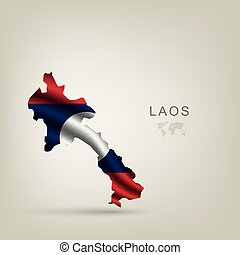 flag of Laos as a country