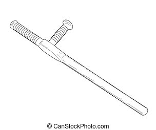 Tonfa - vector illustration.