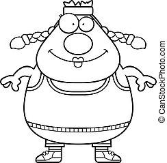 Smiling Cartoon Exercise - A cartoon illustration of an...