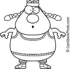 Surprised Cartoon Exercise - A cartoon illustration of an...