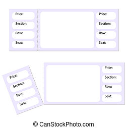 blank tickets and a torn stub isolated on white