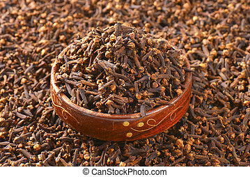 Dried cloves - Full frame of dried cloves