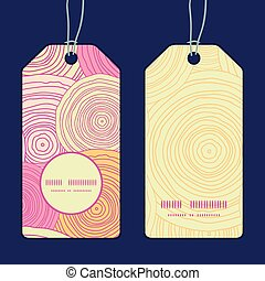 Vector doodle circle texture vertical round frame pattern tags set