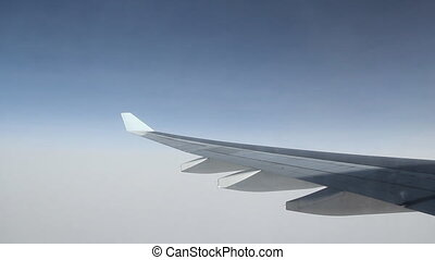 Jet flight. Close to the clouds. - Passenger jet in flight....