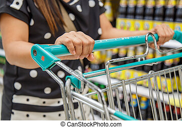 Woman shopping in department store
