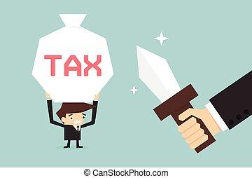 Tax - Business man pay tax