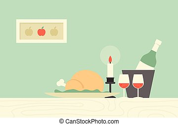 Dining Table - Dining table, vector