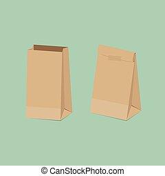 Paper Bag - Recycled brown paper bag