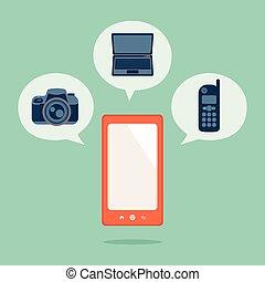 Smart phone, vector