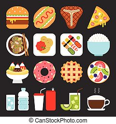 Food icons, lunch