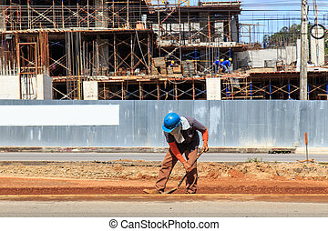 A man Working in construction site
