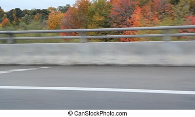 Driving on Don Valley Parkway - Driving on the Don Valley...