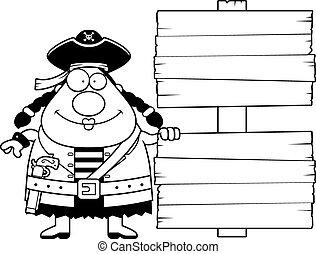 Cartoon Pirate Sign