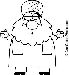 Confused Cartoon Sikh - A cartoon illustration of a Sikh...